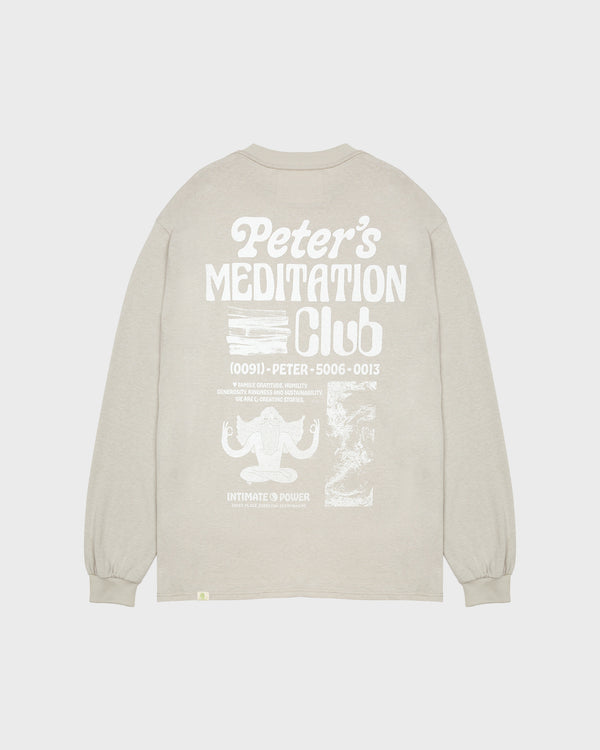 Peter's Meditation Club Long Sleeve Tee - Moss