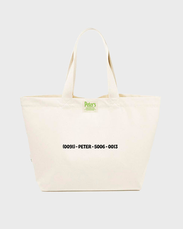 Peter's University Tote Bag - Natural