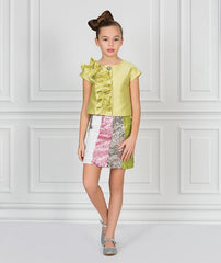 Sparkling River Ruffle Outfit from Mama Luma's Aquarelle Collection