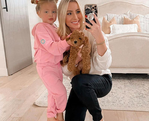 pink sweater and pink sweatshirt for kids