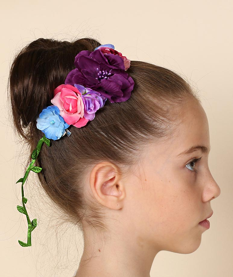 Multi Color Flowers Headband