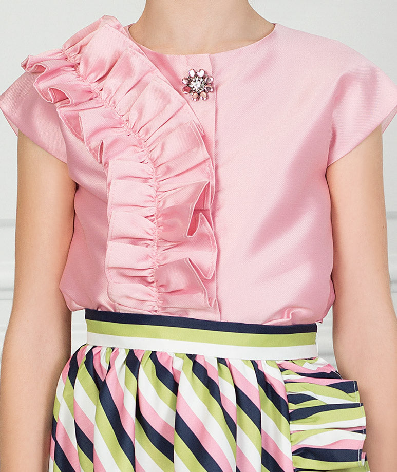 Product Image of Striped Pink Karen Outfit I 2 Pieces #2