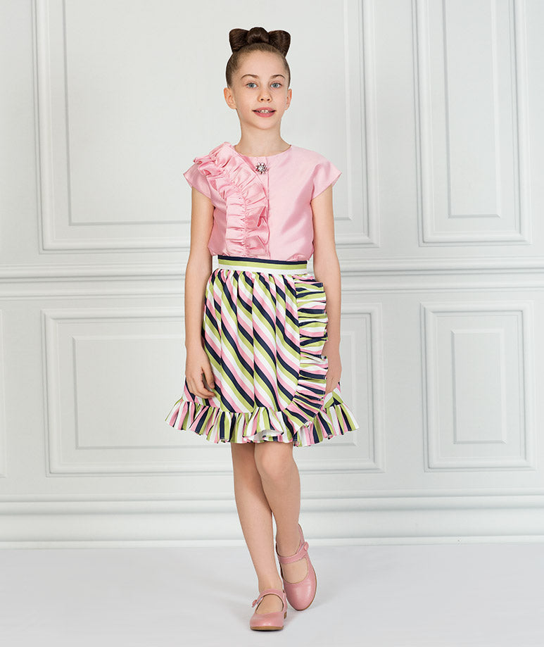 Product Image of Striped Pink Karen Outfit I 2 Pieces #1