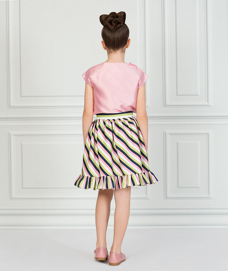 Product Image of Striped Pink Karen Outfit I 2 Pieces #3