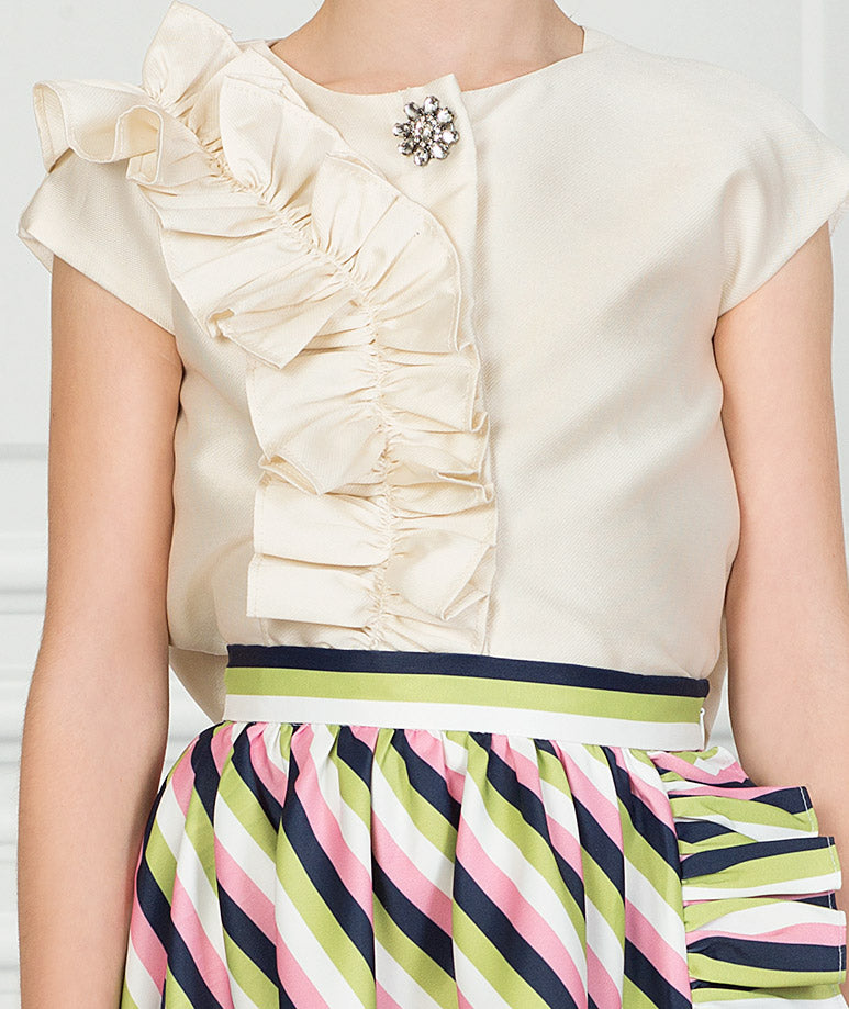 Product Image of Striped Ecru Karen Outfit I 2 Pieces #2
