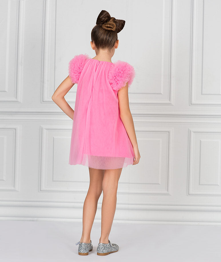 Product Image of Neon Pink Elsie Dress #3