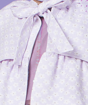 cotton bolero with bow for kids