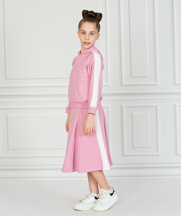 Product Image of Pink Stripe Tennis Outfit |2 pieces #4