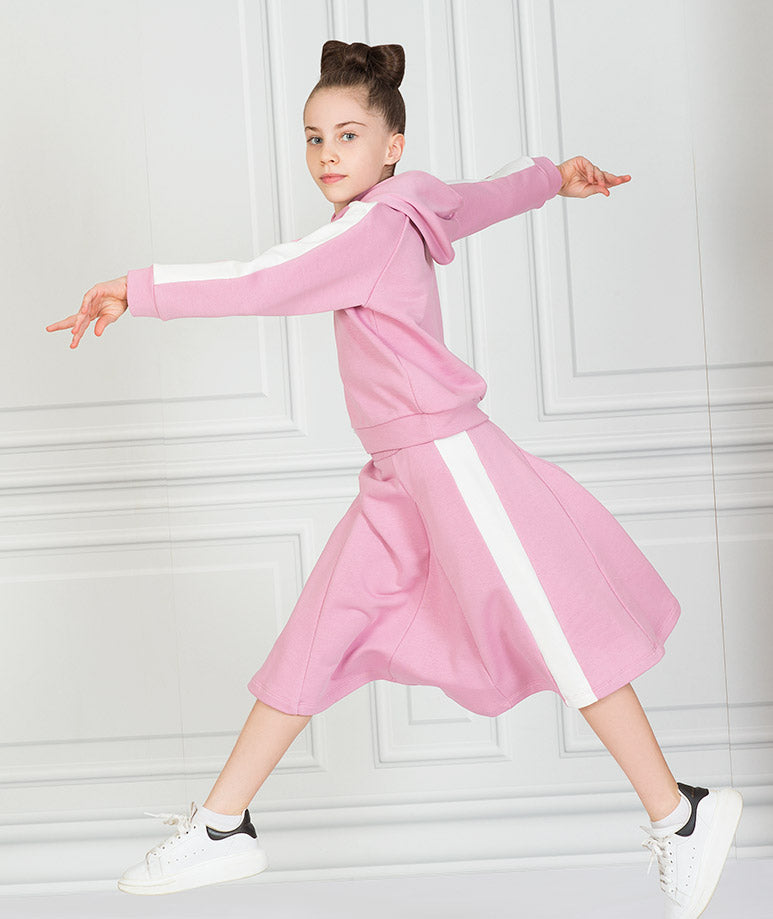 Product Image of Pink Stripe Tennis Outfit |2 pieces #1