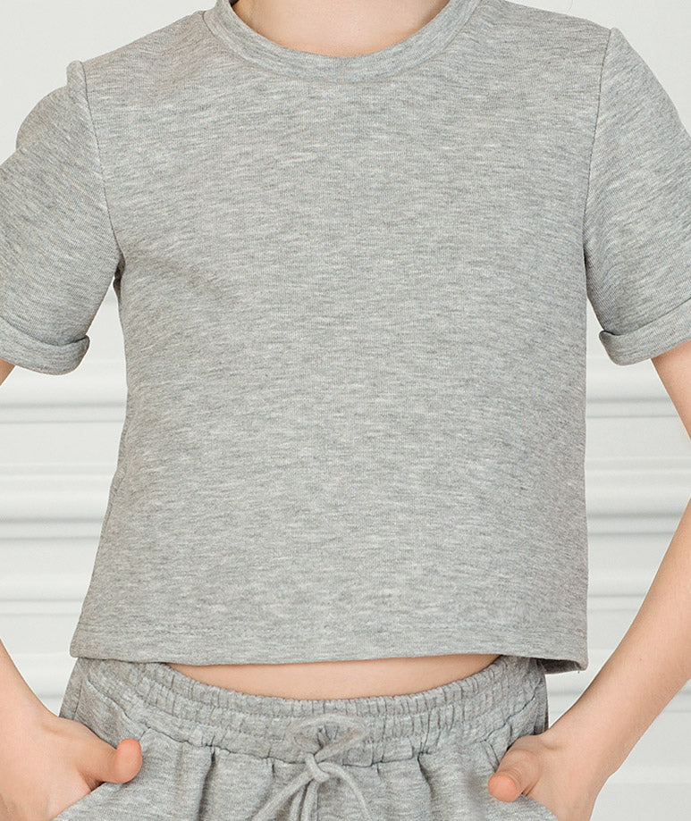 Product Image of Short Sleeve Gray Outfit  2 pieces #4