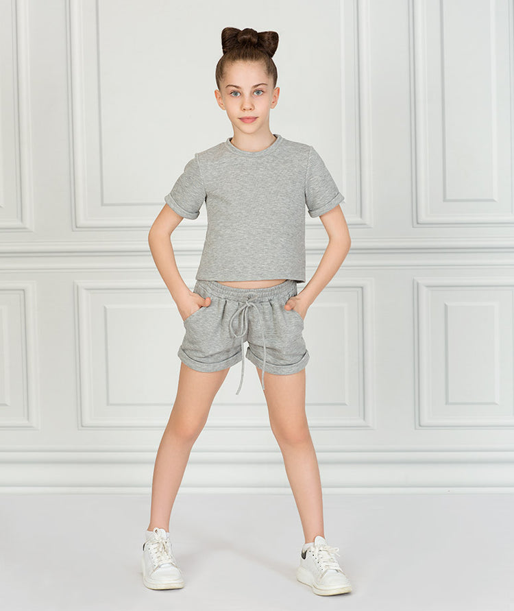 Product Image of Short Sleeve Gray Outfit  2 pieces #1