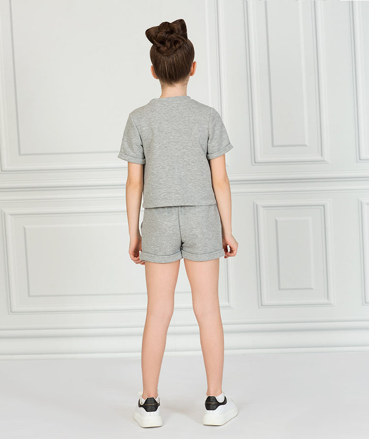 Product Image of Short Sleeve Gray Outfit  2 pieces #3