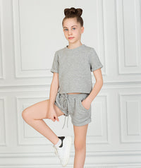 Short Sleeve Gray Outfit |2 pieces