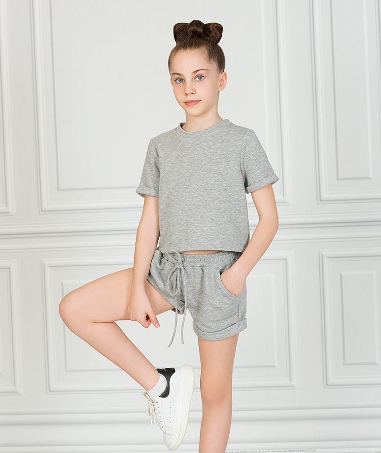 Product Image of Short Sleeve Gray Outfit  2 pieces #2
