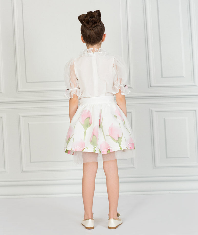 Product Image of Dreamy Flower Appliqué Outfit I 2 Pieces #3