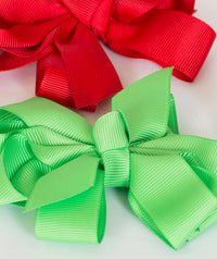 Double Bow Hair Clips | 4-Color Pack