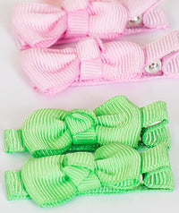 Bow Hair Clips x2 Set | 6-Color Pack