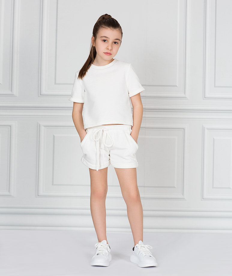 Product Image of Short Sleeve Ecru Outfit |2 pieces #2