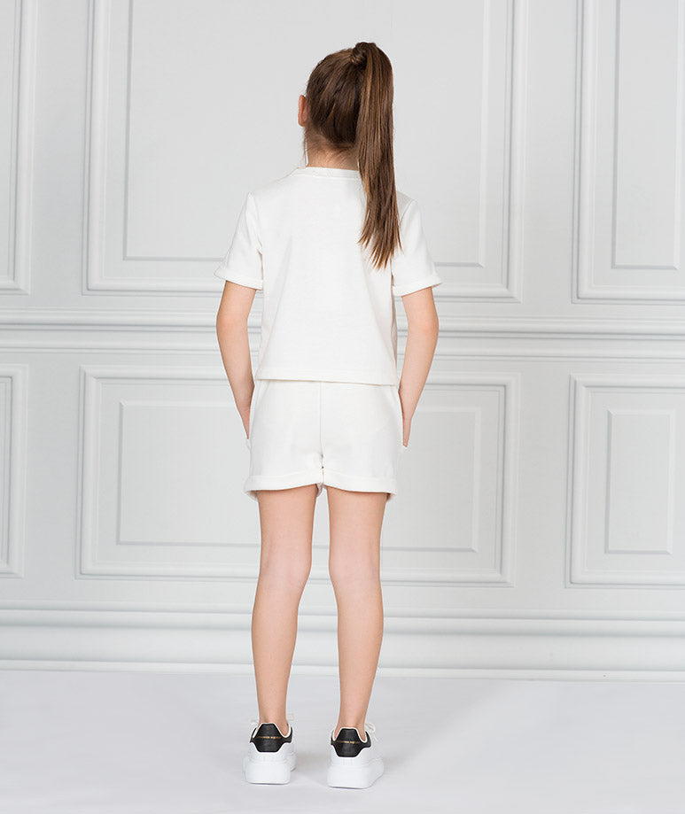 Product Image of Short Sleeve Ecru Outfit |2 pieces #4