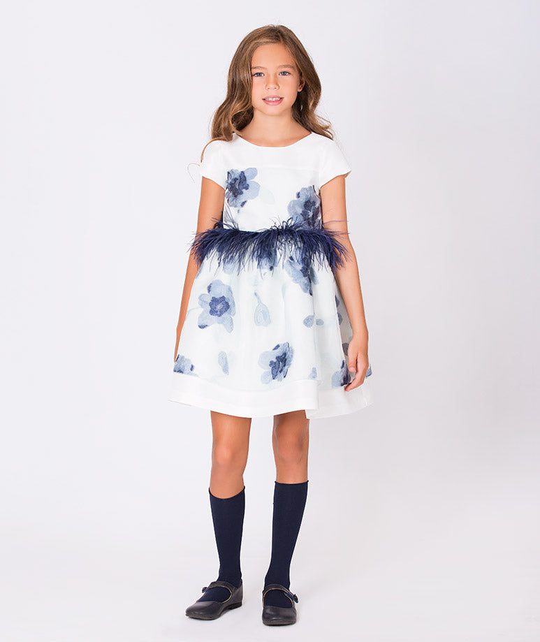 Product Image of Crystal Feathers Dress #1