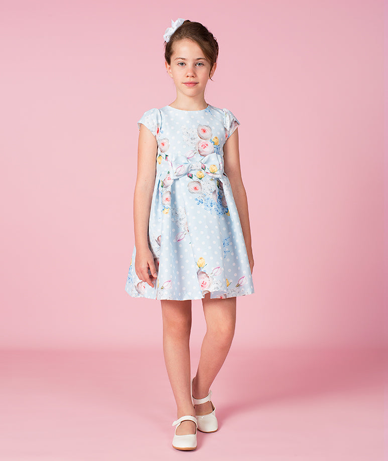 Elegant Floral Polka Maia Dress