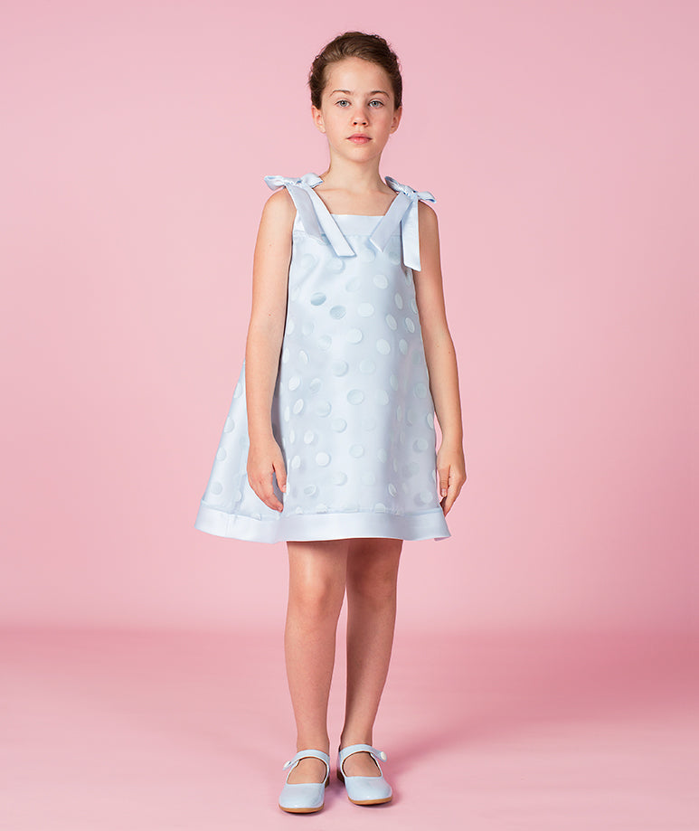 Peony Blue Taffeta Dress