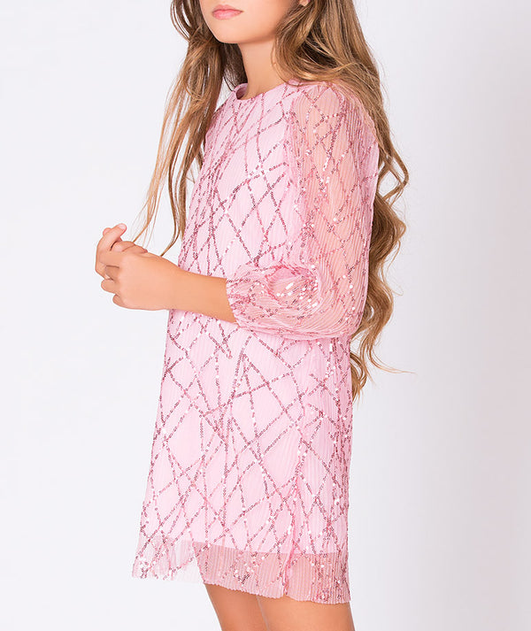 Pink sparkly party dress for kids