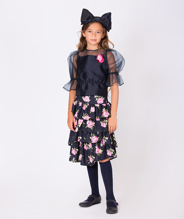 Product Image of Rose Prints Lola Outfit | 2 Pieces #1