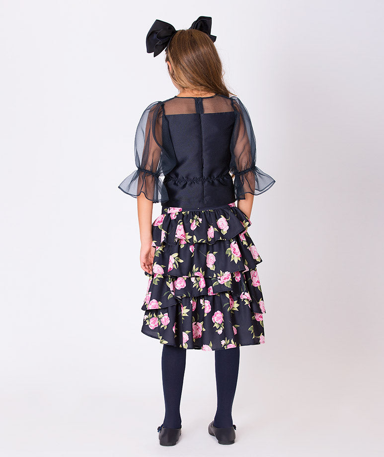 Product Image of Rose Prints Lola Outfit | 2 Pieces #3