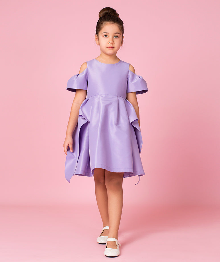 Pastel Purple Special Occasion Dress with Violet Rose Applique