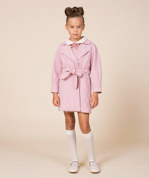 Girl in pink luxury jacket for kids by Mama Luma