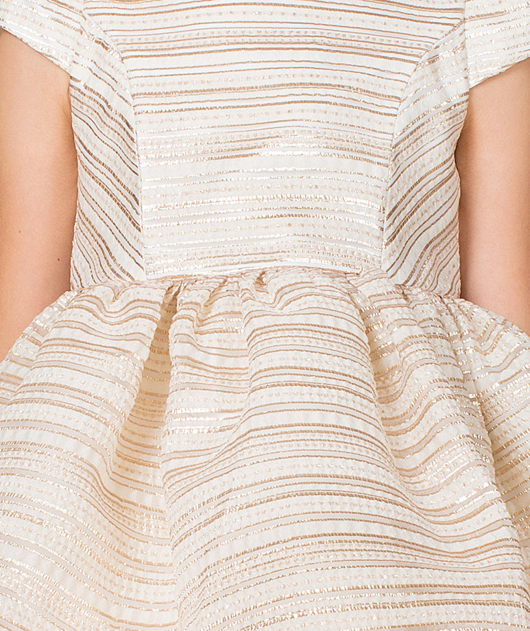 Flared Jacquard Cara Dress
