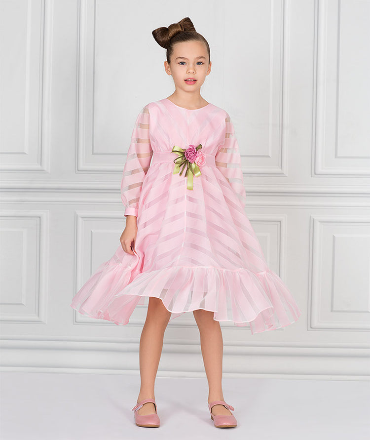 Product Image of Briny Flower Tea-Party Dress   Pink #1