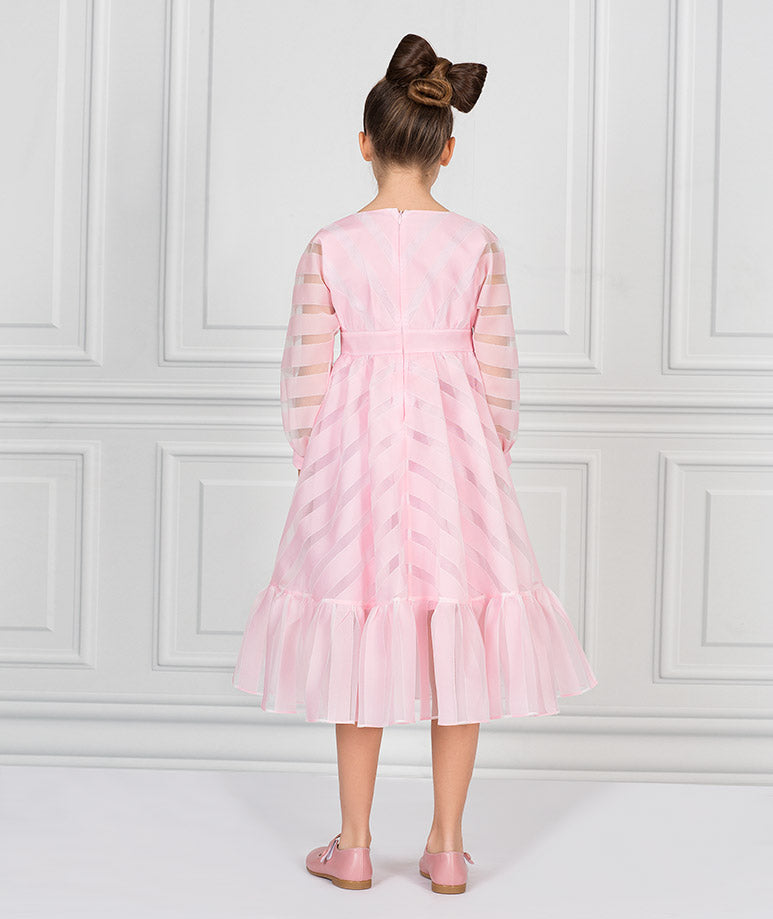 Product Image of Briny Flower Tea-Party Dress   Pink #3
