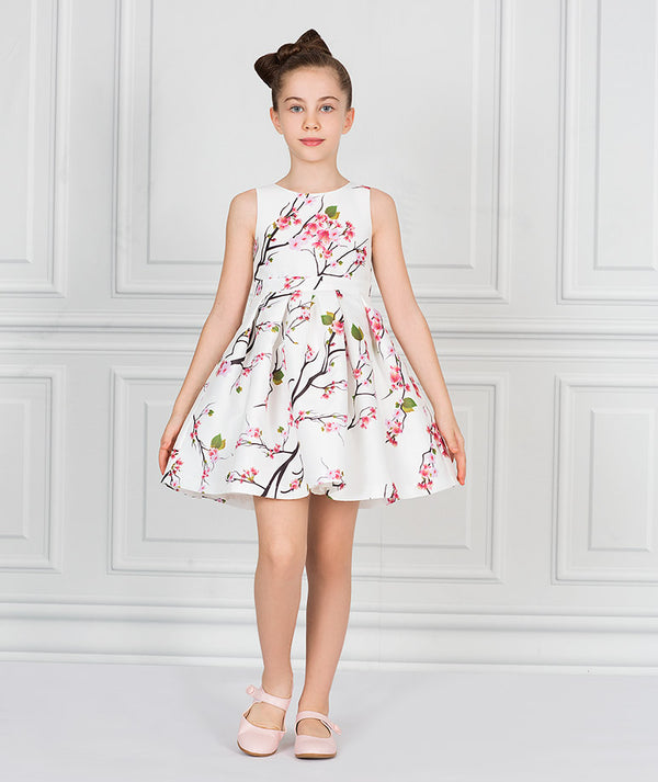 Taffeta Bloom Dress