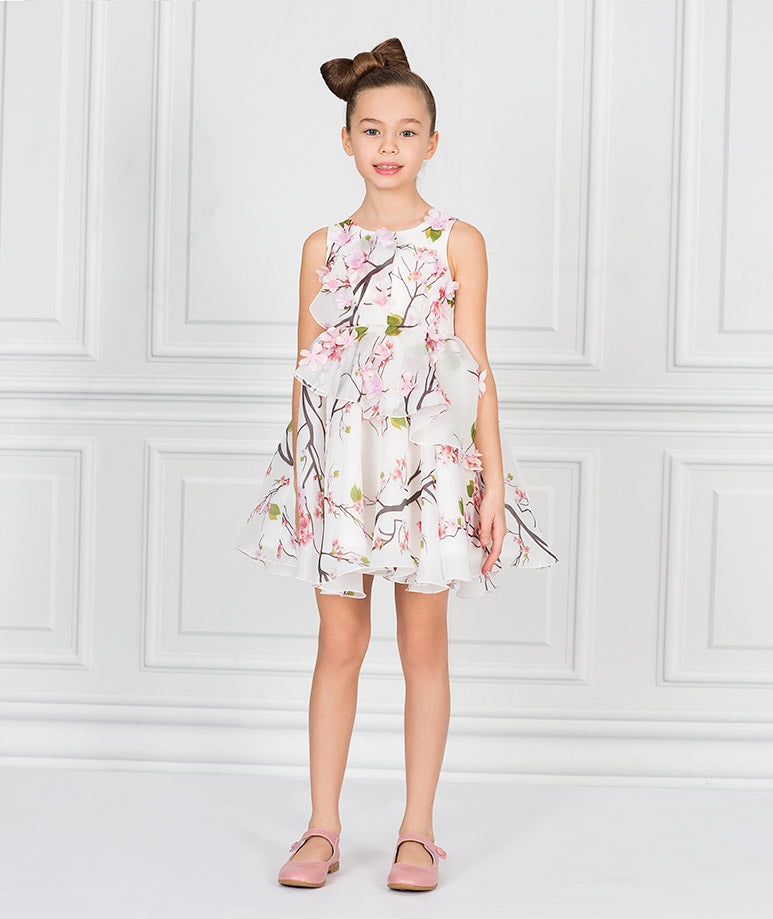 Product Image of 3D Organza Bloom Dress #1