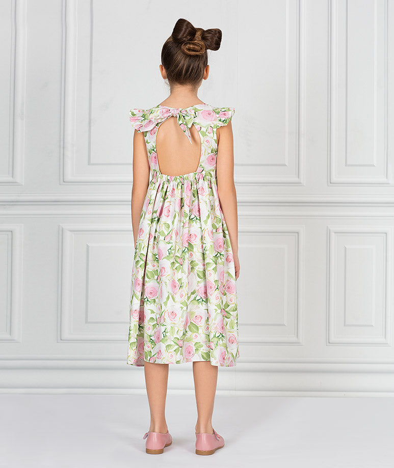 Product Image of Casual Rose Garden Tea-Party Dress #3