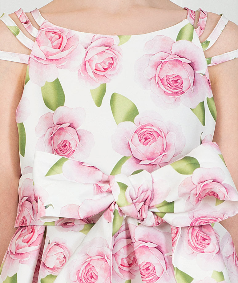 Product Image of Tulip Prints Bow Dress #3