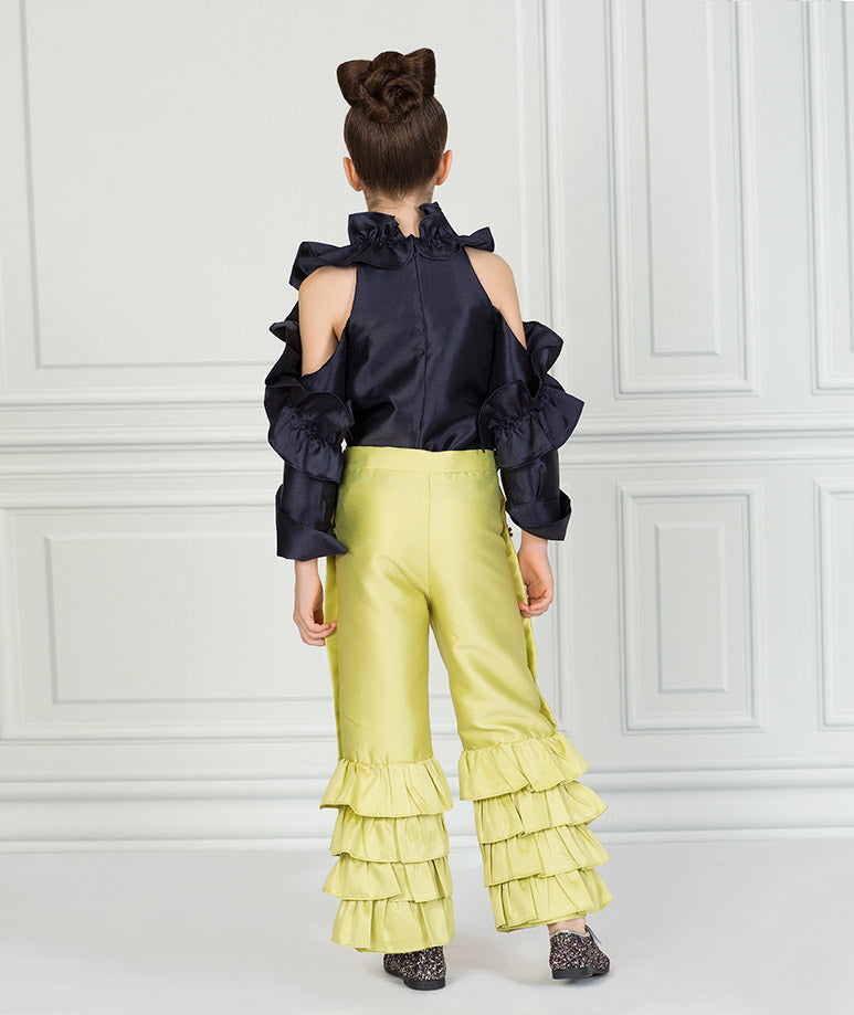 Product Image of Elegant Zoey Ruffle Outfit I 2 Pieces #3