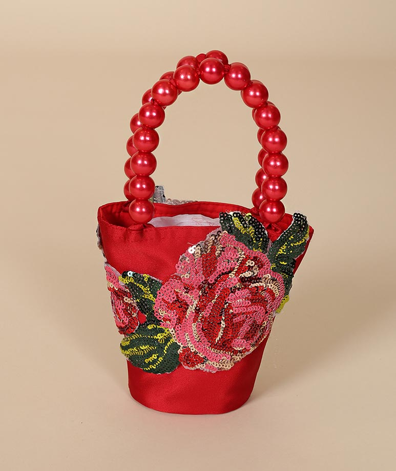 Maison Chamonix Red Roses Bag