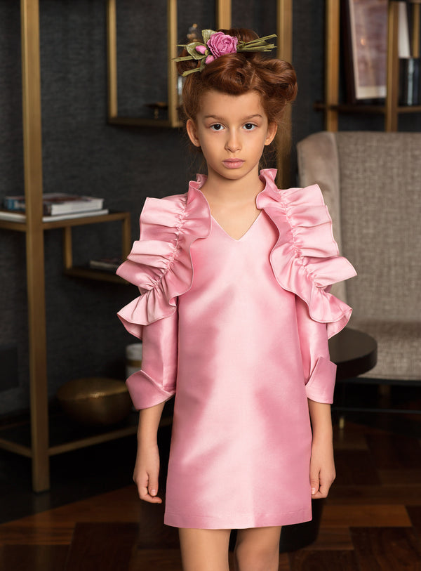 Princess Rose Ruffle Dress