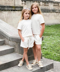 Short Sleeve Ecru Outfit |2 pieces