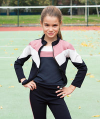 Girl in designer tracksuit for kids by Mama Luma