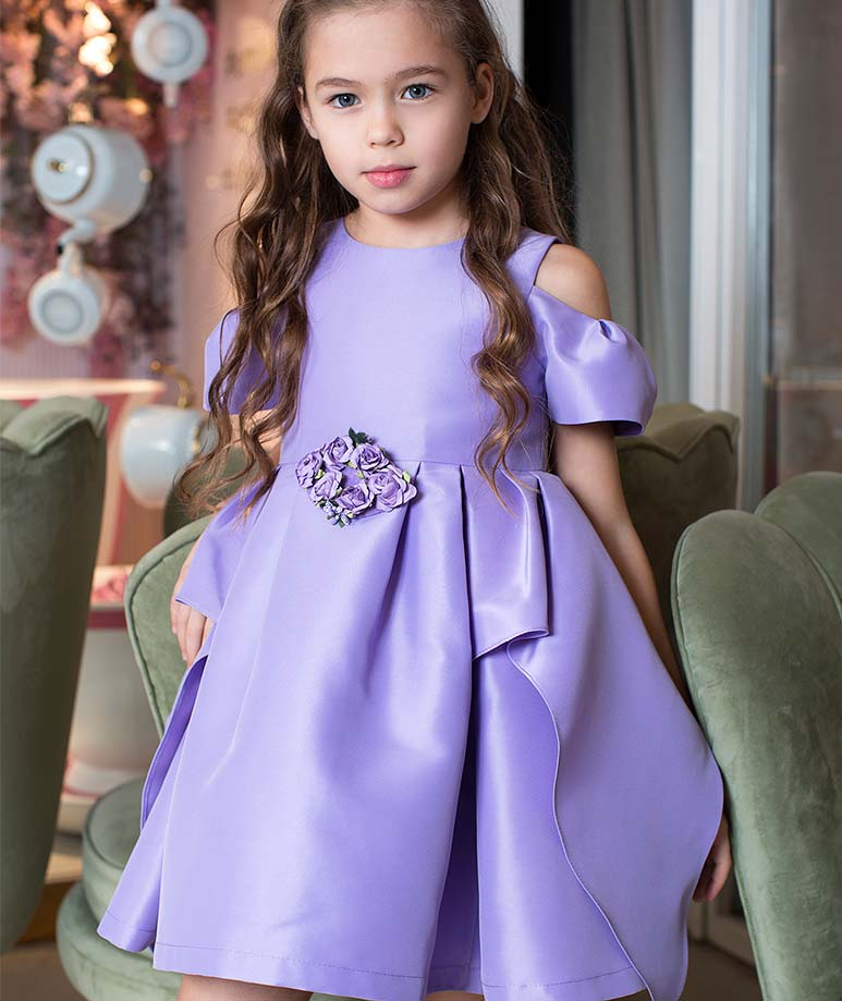 Violet Rose Applique Dress