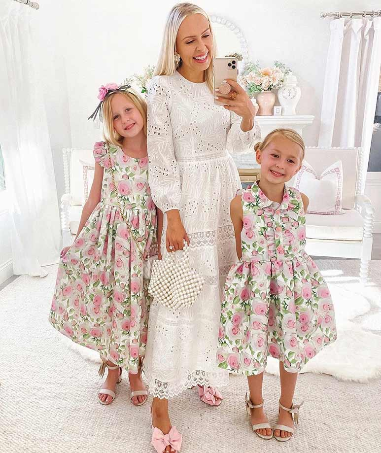 Product Image of Casual Rose Garden Tea-Party Dress #4