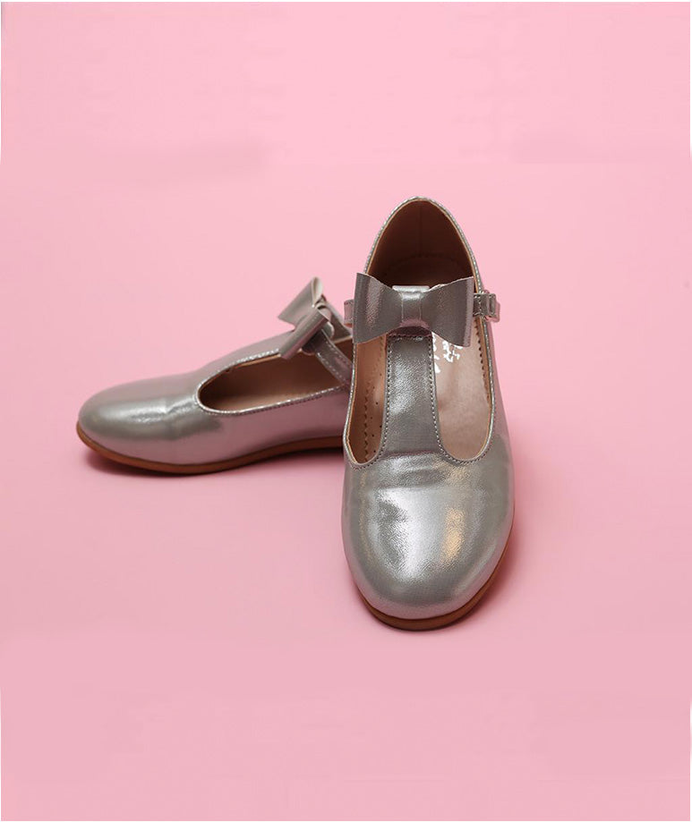Classic Silver Comfortable Kids Shoes
