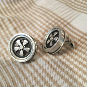 Wheel Cufflinks (Sterling Silver)