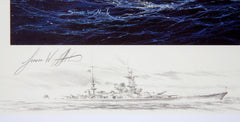 """Escort To The Scharnhorst"" Simon Atack artist signature"
