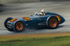 Bill Vukovich at the Indy 500, 1953 by Dion Pears