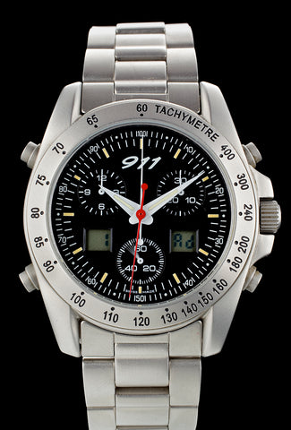 Porsche 911 Chronograph by Eterna Analog-Digital Mint!